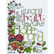 Design Works Crafts Be Strong Cross Stitch Kit