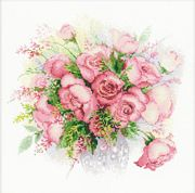 RIOLIS Watercolour Roses Cross Stitch Kit