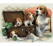 RIOLIS Canine Family Cross Stitch Kit