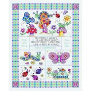 Janlynn Bug in a Rug Birth Sampler Cross Stitch Kit