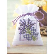Vervaco Lavender Bow Bag Cross Stitch Kit