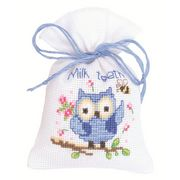 Vervaco Blue Owl Bag Cross Stitch Kit