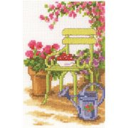 Vervaco Garden Chair Cross Stitch Kit
