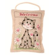 Welcome Kitten Cushion - Vervaco Cross Stitch Kit