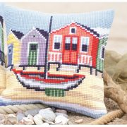Seafront Cushion - Vervaco Cross Stitch Kit