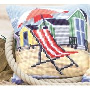 Vervaco Beach Chair Cushion Cross Stitch Kit