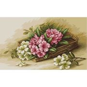 Luca-S Basket with Flowers Cross Stitch Kit