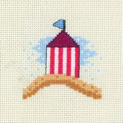 Permin Beach Hut Cross Stitch Kit