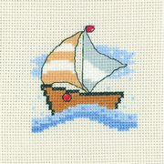 Yacht - Permin Cross Stitch Kit