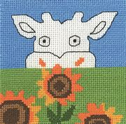 Permin Cow and Sunflowers Cross Stitch Kit