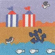 Permin Beach Huts Cross Stitch Kit