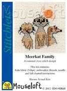 Mouseloft Meerkat Family Cross Stitch Kit