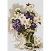 Luca-S Vase with Jasmine Cross Stitch Kit
