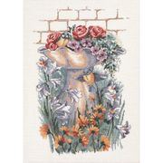 Summer Garden - Aida - Permin Cross Stitch Kit