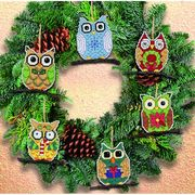 Janlynn Owl Ornaments Christmas Cross Stitch Kit