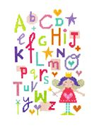 Stitching Shed Fairy Alphabet Cross Stitch Kit