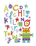 Stitching Shed Robot Alphabet Cross Stitch Kit