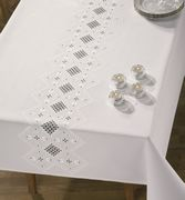 Hardanger Strip Tablecloth - Permin Embroidery Kit