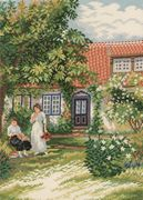 Eva Rosenstand Ladies in the Garden - Evenweave Cross Stitch Kit