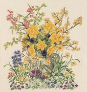 Eva Rosenstand Easter Flowers - Evenweave Cross Stitch Kit