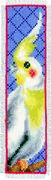 Cockatiel Bookmark - Vervaco Cross Stitch Kit