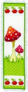 Toadstools Bookmark 1 - Vervaco Cross Stitch Kit