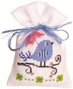 Blue Bird Bag - Vervaco Cross Stitch Kit