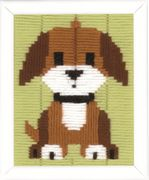 Vervaco Brown Doggy Long Stitch Kit
