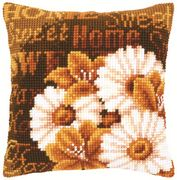 Modern Daisies Cushion - Vervaco Cross Stitch Kit