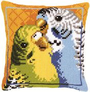 Budgies Cushion - Vervaco Cross Stitch Kit