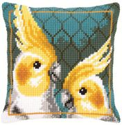 Cockatiels Cushion - Vervaco Cross Stitch Kit