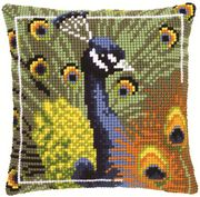 Vervaco Peacock Cushion Cross Stitch Kit
