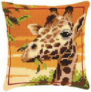 Vervaco Giraffe Cushion Cross Stitch Kit