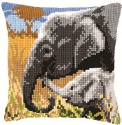 Elephant Love Cushion - Vervaco Cross Stitch Kit
