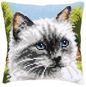 Siamese Cat Cushion - Vervaco Cross Stitch Kit