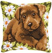 Labrador Puppy Cushion - Vervaco Cross Stitch Kit