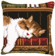 Sleeping Cat Cushion - Vervaco Cross Stitch Kit