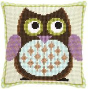 Mister Owl Cushion - Vervaco Cross Stitch Kit