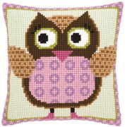 Miss Owl Cushion - Vervaco Cross Stitch Kit