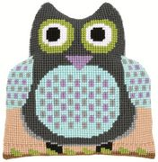 Vervaco Owl Shaped Cushion inc Back Cross Stitch Kit