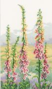 Vervaco Foxgloves at Dawn - Aida Cross Stitch Kit
