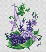 Umbrella with Clover - Luca-S Cross Stitch Kit
