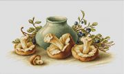 Luca-S Still Life with Mushrooms Cross Stitch Kit