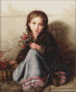 Luca-S Little Flower Girl Cross Stitch Kit