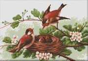 Chicks in Nest - Luca-S Cross Stitch Kit