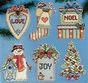 Country Christmas Ornaments - Design Works Crafts Cross Stitch Kit