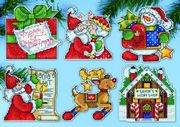 Design Works Crafts Santa's Workshop Ornaments Cross Stitch Kit