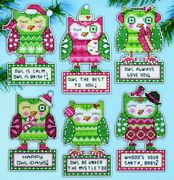 Design Works Crafts Happy Owlidays Ornaments Cross Stitch Kit