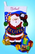 Design Works Crafts Believe Felt Stocking Christmas Craft Kit