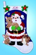 Design Works Crafts Forest Friends Felt Stocking Christmas Craft Kit
